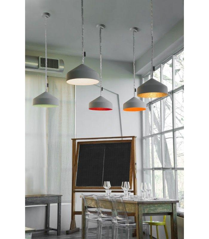 In-es.artdesign - Lampada a sospensione effetto cemento Cyrcus #inesartdesign #artdesign #nebulite #design #lamp #suspensionlamp #cement