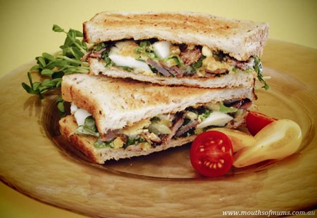 A great caesar toasted sandwich recipe from symply too good to be true book5.