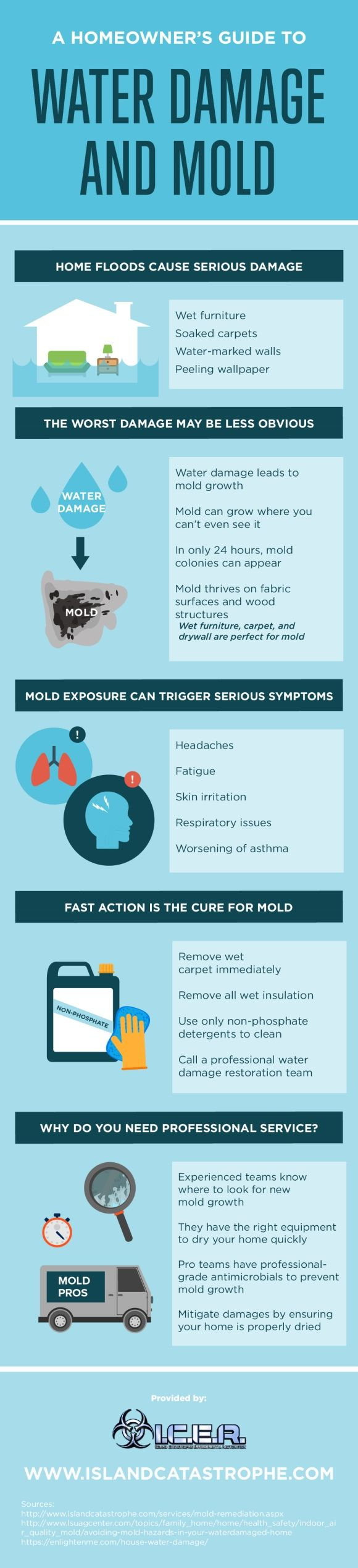 When it comes to removing mold, it's important to act as quickly as possible! Check out this infographic to learn how to keep mold and water damage out of the house.  #infographic #data visualization #mold remediation #basement waterproofing #mold removal #waterproofing basement