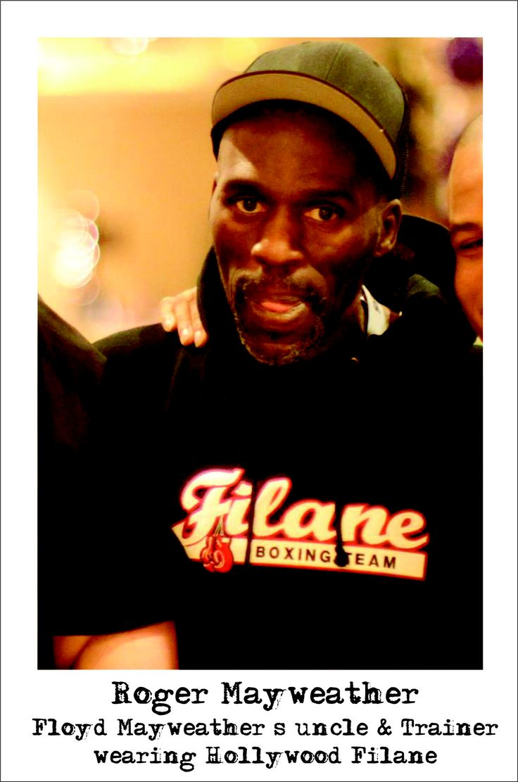 Boxing Trainer Roger Mayweather wearing one of our Filane Boxing Team Hoodies www.filanes.com www.hollywoodfilane.com