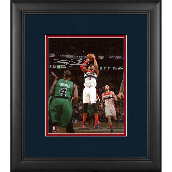 "Bradley Beal Washington Wizards Fanatics Authentic Framed Autographed 8"" x 10"" Shot vs. Boston Photograph - $129.99"