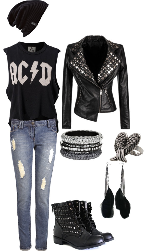 """Rocker Chick"" by fallenpanda on Polyvore. seriously love this though!!!"