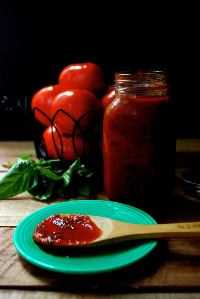 How to make all-day marinara sauce from scratch! Sweetest, most most flavorful sauce we've ever made. Gluten free, paleo, vegan