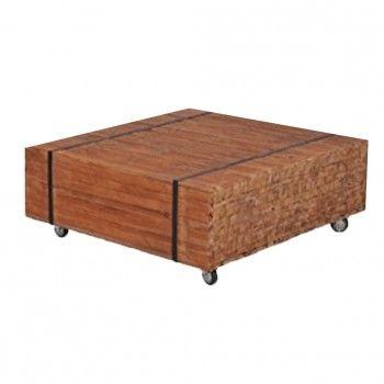Deze hippe salontafel Biels uit de MC Label collectie geeft jouw interieur een warmte en persoonlijkheid. De coffeetable is gemaakt van allemaal kleine stukjes teak (licht vergrijsd, vintage). Ieder exemplaar is anders en dat maakt de tafel zo bijzonder! De tafel staat op hippe stoere wielen, twee met rem. De antraciet grijze metalen strippen geven de tafel net even dat extra stoere cargo effect!