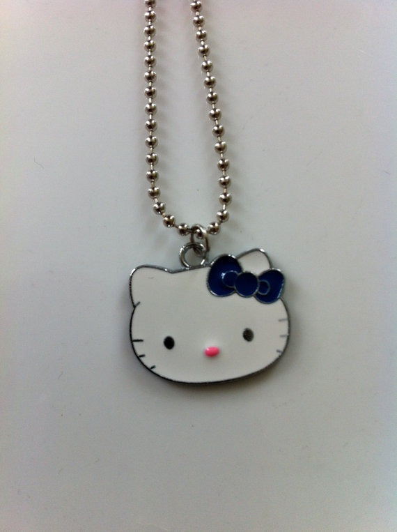 Hello Kitty Charm Necklace by spadforme on Etsy, $10.00