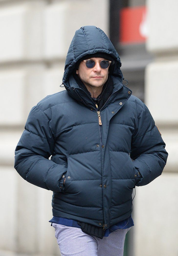 Pin for Later: Can't-Miss Celebrity Pics!  Bradley Cooper was well prepared for NYC's Winter weather on Wednesday.