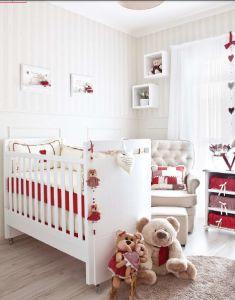 Um quarto de bebê dos sonhos com toques de vermelho - Blog Lilibee
