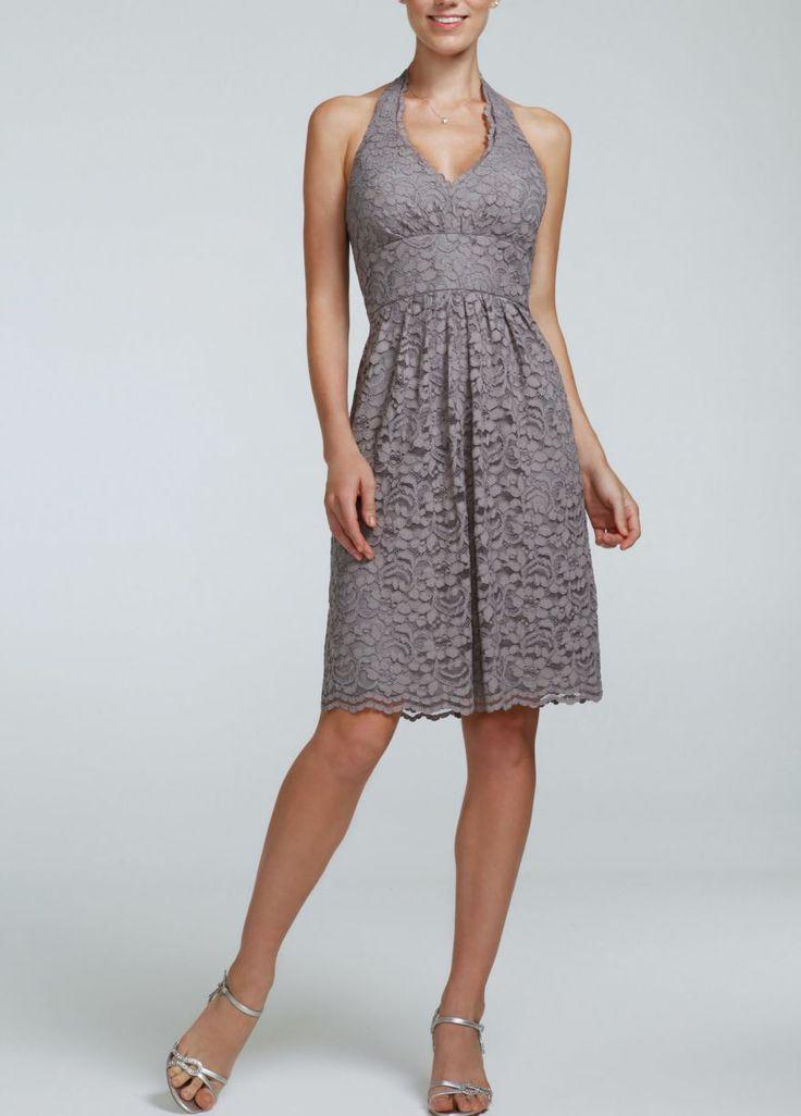Short Halter Lace Dress David S Bridal