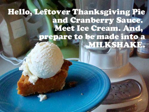 Seeking Sweetness in Everyday Life - CakeSpy - Shake it: Leftover Thanksgiving Pie Milkshake Recipe for SeriousEats