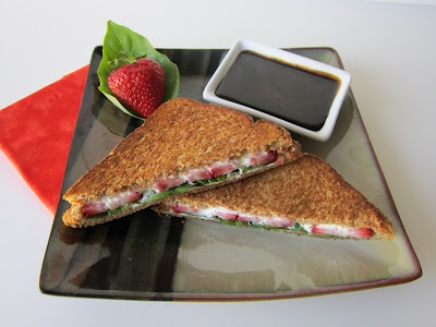 Strawberry, Basil, and Goat Cheese Panini with Balsamic Honey Sauce ...