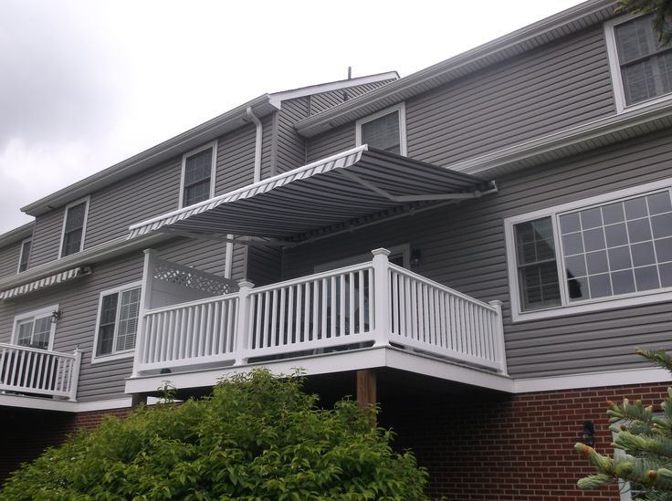 This Is A Sunair Retractable Awning Installed In Pittsburgh By Thomas V.  Giel Garage Doors