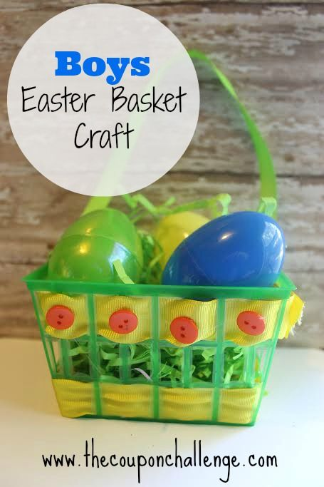 Boys Easter basket - Build Your Own Easter Basket: Crafts For Kids, Basket Crafts, Boys Easter, Easter Baskets, Kids Boys, Easter Spring Crafts