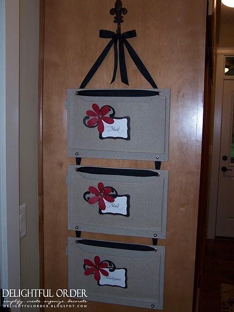 Handmade wall file organizer