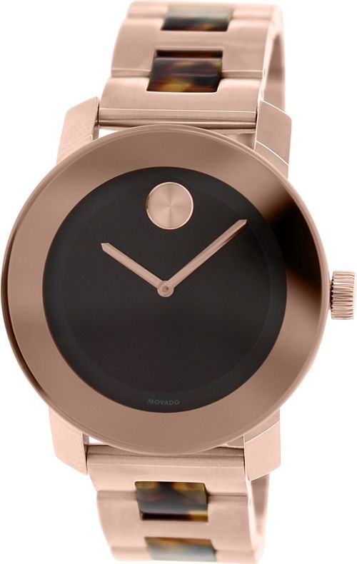 Movado Women's Bold 3600189 Rose-Gold Stainless-Steel Swiss Quartz Watch #Movado #CasualWatches