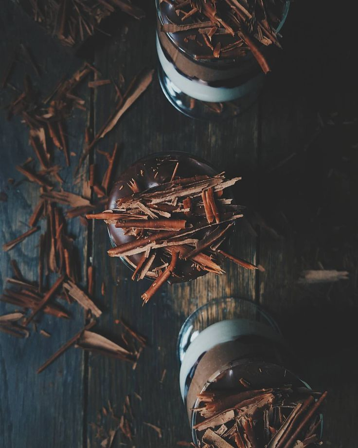 Layered ricotta mousse. #chocolate #rum #ricotta #mousse #dessert