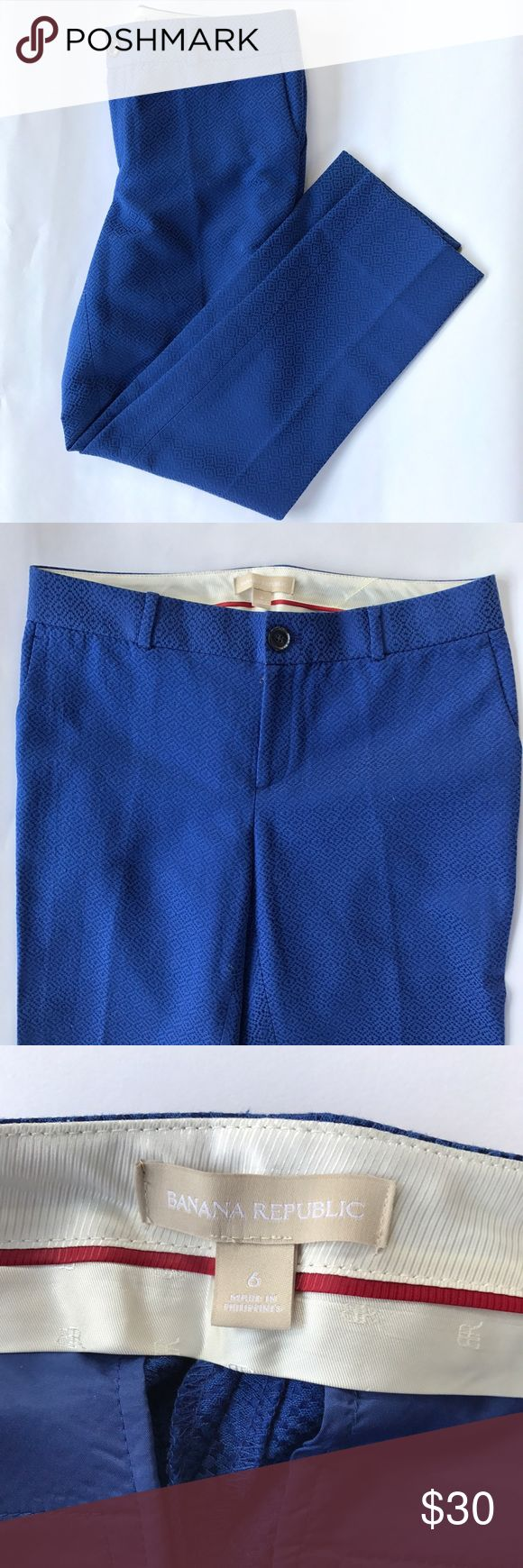 Banana Republic Trousers Gorgeous blue trousers form Banana Republic.  Ankle length.  Perfect for summer. Banana Republic Pants Ankle & Cropped