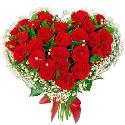 Букет из роз в виде сердца с бесплатной доставкой в Москве http://www.dostavka-tsvetov.com/tsvet/29-roz