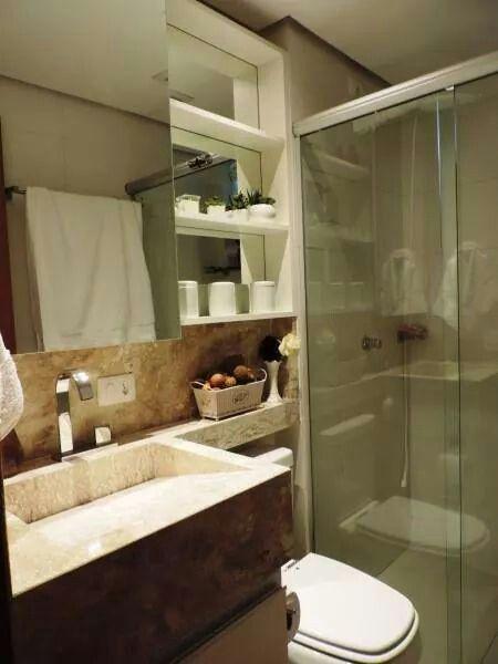 Banheiro modelo de bancada com esculpida em marmore