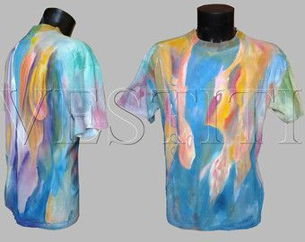 HAND PAINTED T SHIRT hand made clothing art t shirt funny t shirts clothing for mens t shirt hand painted clothes handpainted clothing -…