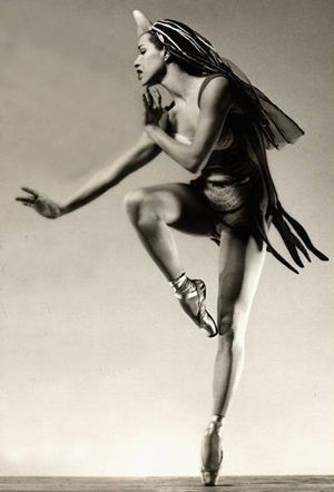 Native American ballerina Maria Tallchief who began ballet lessons at age four in Fairfax, Oklahoma—an Osage Indian community—and went on to stardom in roles created specifically for her by her husband and choreographer, George Balanchine. Shewho helped found the New York City Ballet Company in 1948
