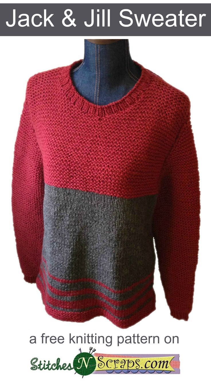 56 best pink wool vintage knitting patterns images on pinterest jack jill sweater a free knit pattern on stitchesnscraps bankloansurffo Image collections