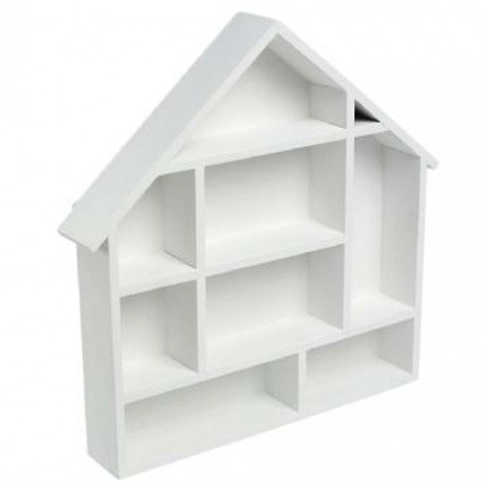white dolls house shape shelf £9.99