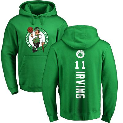 Men's Boston Celtics Fanatics Branded Kelly Green Personalized Backer Pullover Hoodie