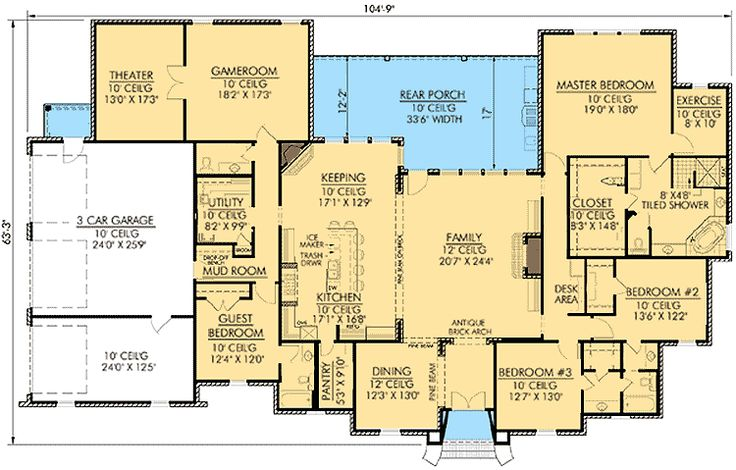 Best 25 acadian homes ideas on pinterest acadian house for Wide open floor plans