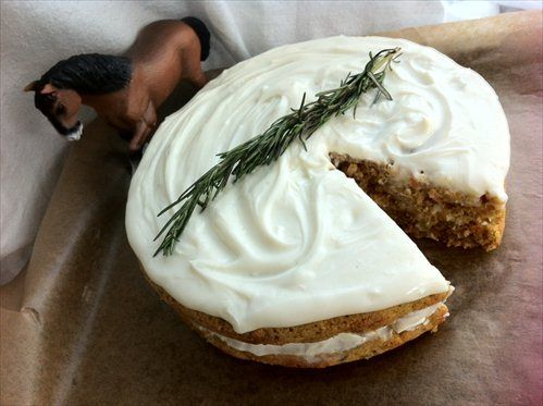 """Carrot, oak & apple cake (inspired by """"War Horse"""") - I'll try making for cooking club tonight!"""