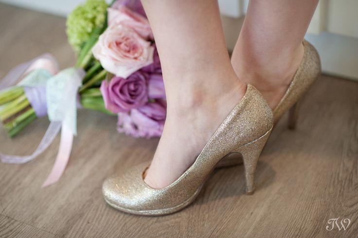 Sparkly wedding shoes   @flowersbyjanie @karibolen   Calgary wedding photographer