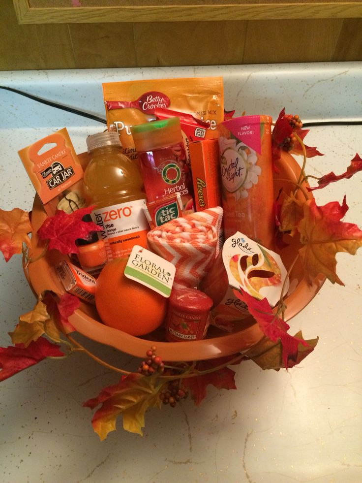 """Orange"" You Glad it's Your Birthday gift basket... Creation  By Christina... November 2014"