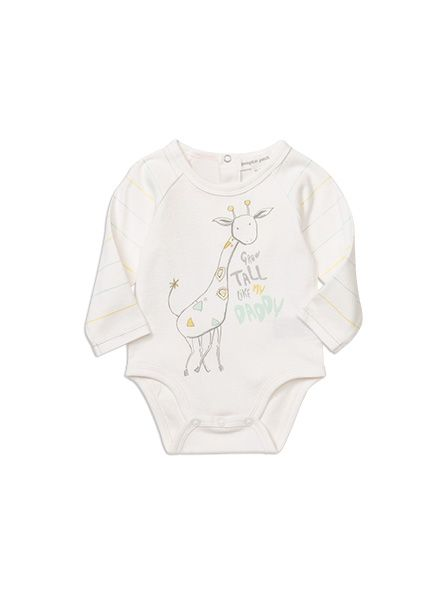 Pumpkin Patch 'Grow tall like Daddy' giraffe bodysuit, $23. Also available with long legs.