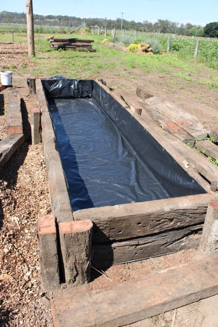 how to build a self wicking garden bed