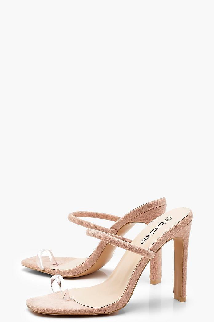8249d56050a Clear Toe Ring Skinny Mule Heels in 2019 | Coop & Chanel's Wedding ...