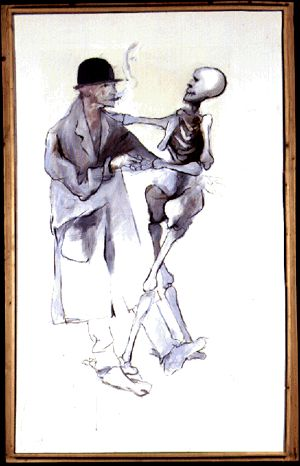 Man with a Skeleton - Project of the Costume, 1984 Tadeusz Kantor