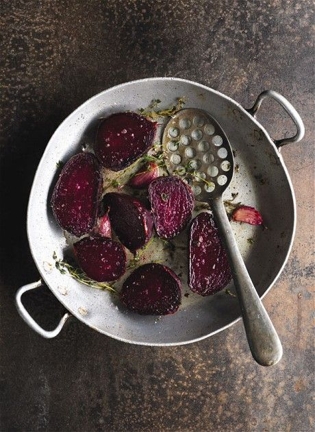 Beetroot Fondant & Garlic Cloves Seasoned with Thyme. Hay Festival 2011: Bryn Williams' favourite Welsh ingredients and recipes - Telegraph