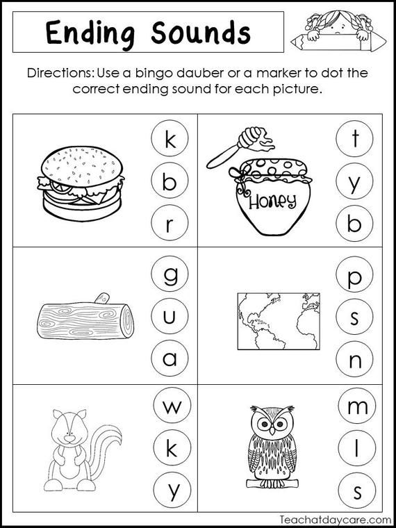 10 Printable Ending Sounds Worksheets Preschool 1st Grade Etsy In 2020 Kindergarten Worksheets Printable Kindergarten Worksheets Shapes Worksheet Kindergarten