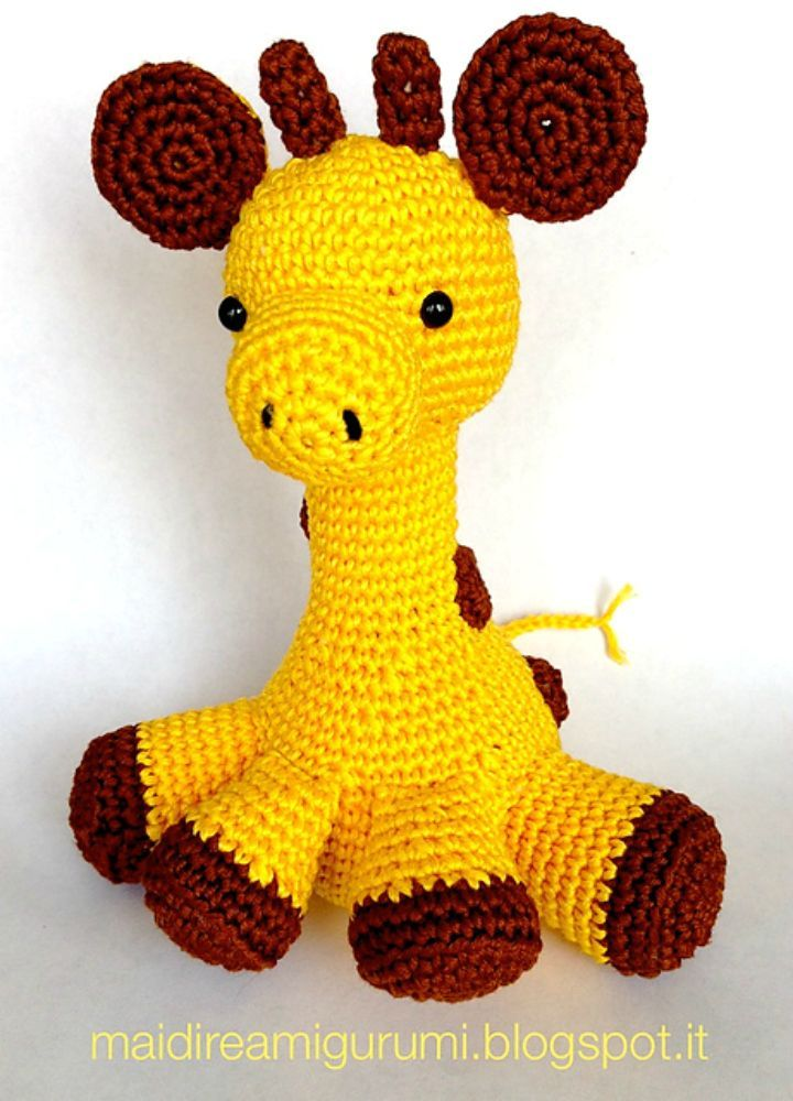 32 Free Crochet Giraffe Amigurumi Patterns ⋆ DIY Crafts | 1000x720