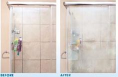 Éliminer les taches d'eau dure sur les portes de douche, avec un truc…