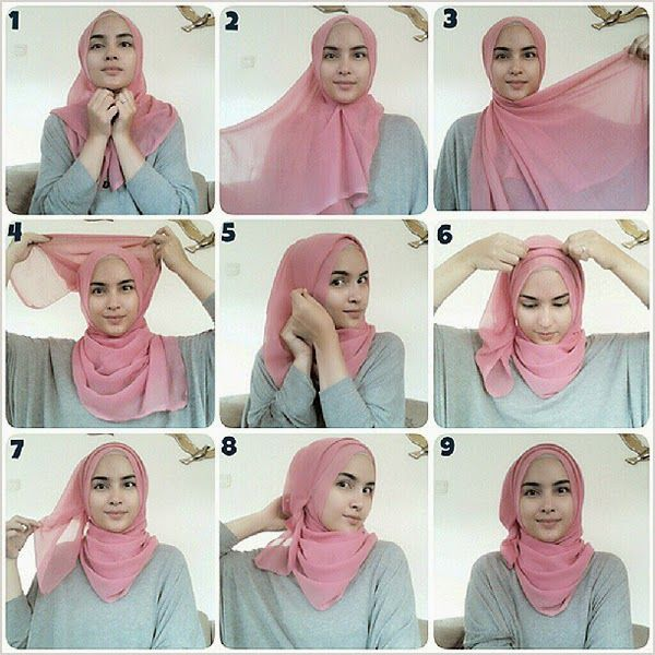 how to wear a square scarf on your head - this is for all my hijabis <3