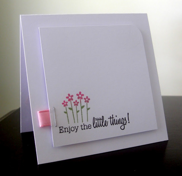 Stamping & Sharing: Enjoy The Little Things  http://stampingsharing.blogspot.com/2012/07/enjoy-little-things.html