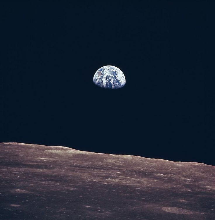 From the moon, who also loves you.  Eath rise, Apollo 11 Nasa