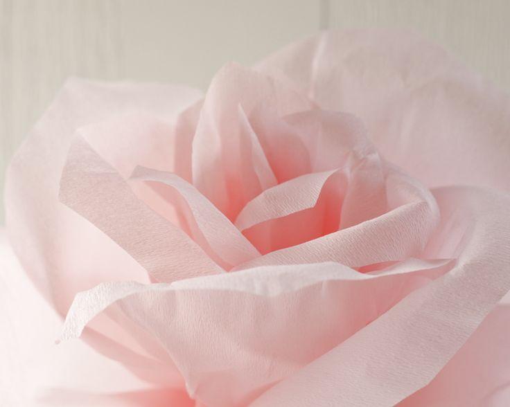 Giant crepe paper rose. Tutorial at smilemercantile.com.