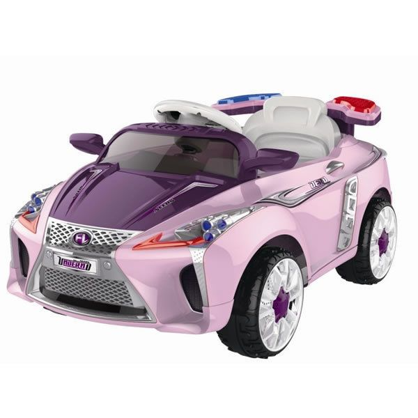lexus style kids ride on 12v electric battery powered childrens toy car rc pink