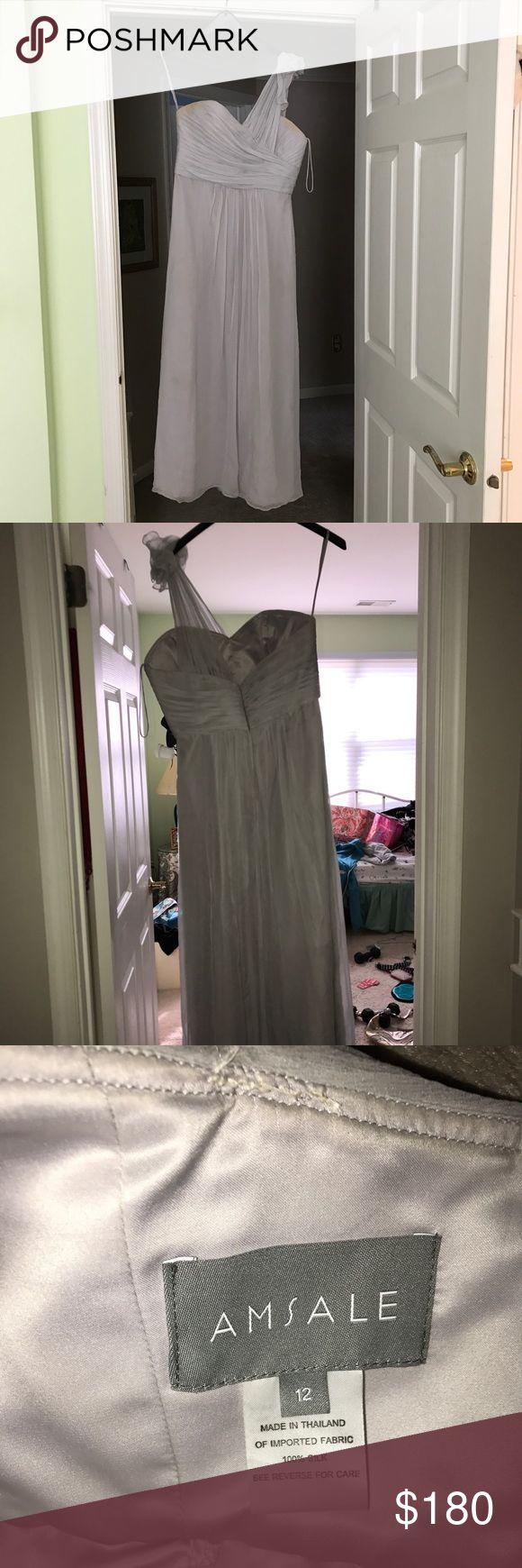AMSALE Bridal dress size 12 PASTEL BLUE MAXI DRESS Beautiful float with lace size 12. amsale Dresses Wedding