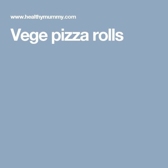 Vege pizza rolls