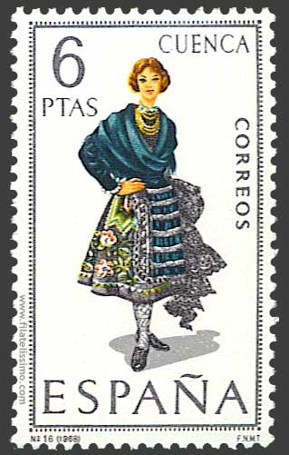 Collection of Spanish stamps:  1968 Cuenca