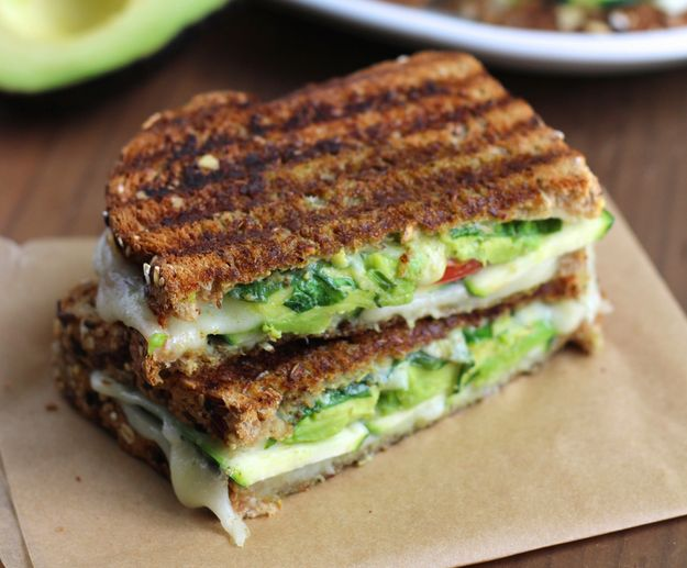 Zucchini and Avocado Grilled Cheese | 29 Of The Most Delicious Things You Can Do To Zucchini