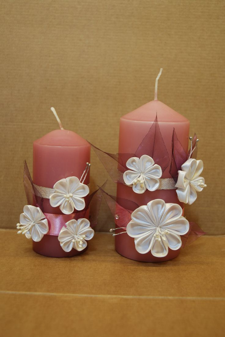 how to make baptism candle decorated with flowers
