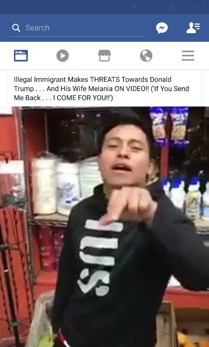 "POS ILLEGAL THREATENING TRUMP  https://www.facebook.com/mediatakeout/videos/1596024083762866/   From Posts-WAKE UP AMERICANS: "" When you threaten to kill the president  you go to jIl for Long time. Maybe he can learn how to speak the language  right.. l don't care how hard they work. If you don't like  it leave. I dont care if your an actor politician or any other person if you don't  like it get the fuck out now all these people said if Trump came President they would move out of the…"